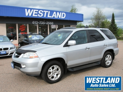 2002 acura mdx at westland auto sales in pembroke ontario. Black Bedroom Furniture Sets. Home Design Ideas