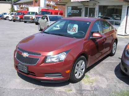 2012 Chevrolet Cruze LT Turbo at Clancy Motors in Kingston, Ontario