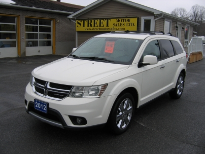 2012 dodge journey rt all wheel drive 7 pass leather roof at street motor sales in smiths falls. Black Bedroom Furniture Sets. Home Design Ideas