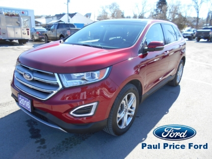 2016 Ford Edge Titanium AWD at Paul Price Ford in Bancroft, Ontario