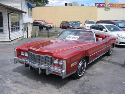 1976 Cadillac Eldorado Convertible at Clancy Motors in Kingston, Ontario