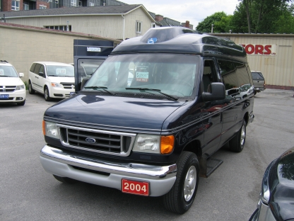 2004 Ford E-350 XL SuperDuty Extended Handicapped Van at Clancy Motors in Kingston, Ontario