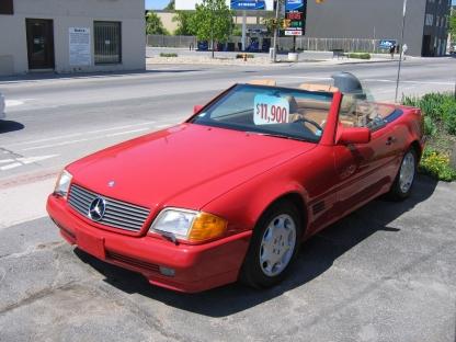1990 Mercedes-Benz 500SL Convertible Hardtop at Clancy Motors in Kingston, Ontario