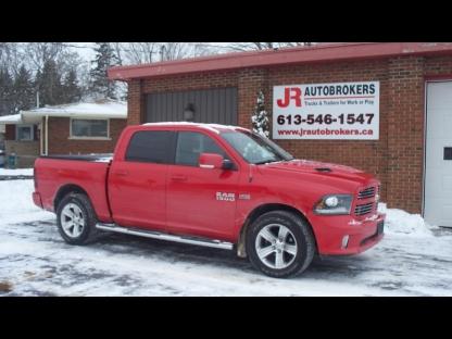 2013 RAM 1500 Sport Crew Cab 4X4 HEMI - LOADED! at JR Autobrokers in Elginburg, Ontario