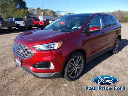 2019 Ford Edge Titanium AWD at Paul Price Ford in Bancroft, Ontario