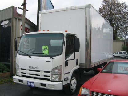 2010 Isuzu NRR 20ft Diesel Cube Van at Clancy Motors in Kingston, Ontario