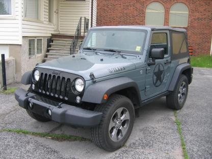 2015 Jeep Wrangler 2Door 4x4 at Clancy Motors in Kingston, Ontario