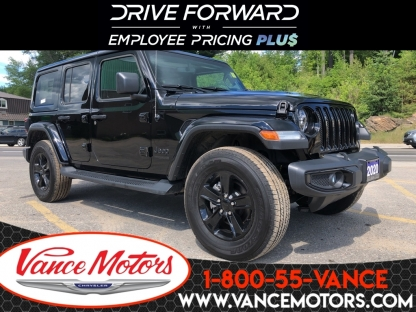 2020 Jeep Wrangler Unlimited Sahara Altitude 4x4...leather* at Vance Motors in Bancroft, Ontario