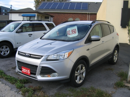 2015 Ford Escape SE EcoBoost at Clancy Motors in Kingston, Ontario