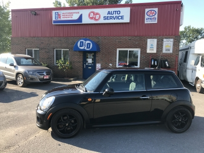 2013 Mini Cooper Only 74K !!  $84 Bi Weekly OAC* !!  at D&D Auto Service in Kingston, Ontario
