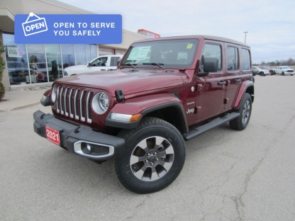 2021 Jeep Wrangler Unlimited Sahara at Hinton Dodge Chrysler in Perth, Ontario