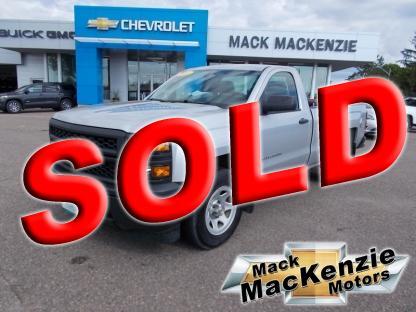 2015 Chevrolet Silverado 1500 W/T Regular Cab ,8' Box RWD at Mack MacKenzie Motors in Renfrew, Ontario