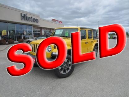 2019 Jeep Wrangler Unlimited Sahara at Hinton Dodge Chrysler in Perth, Ontario