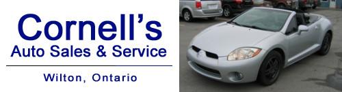 Cornell's Auto Sales in Wilton, Ontario