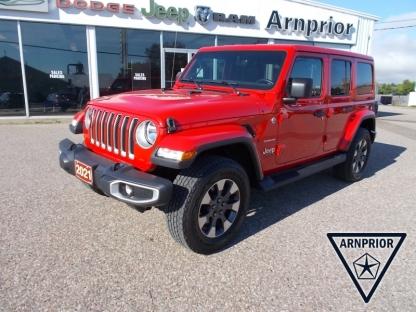 2021 Jeep Wrangler Unlimited Sahara 4X4 at Arnprior Chrysler in Arnprior, Ontario