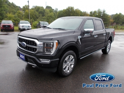2021 Ford F-150 Platinum Super Crew 4X4 at Paul Price Ford in Bancroft, Ontario